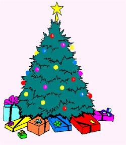świąteczna choinka przyozdobiona bombkami